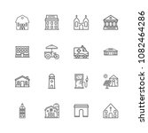 buildings icons. professional ... | Shutterstock .eps vector #1082464286