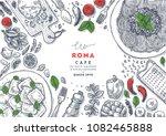italian restaurant menu top... | Shutterstock .eps vector #1082465888