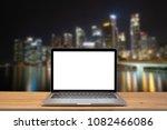 modern computer laptop with... | Shutterstock . vector #1082466086