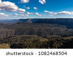 view beyond the three sisters... | Shutterstock . vector #1082468504