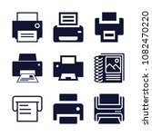 set of 9 printer filled icons... | Shutterstock . vector #1082470220