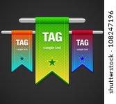flag tag illustration   Shutterstock .eps vector #108247196