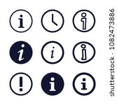 set of 9 circular filled icons...   Shutterstock .eps vector #1082473886