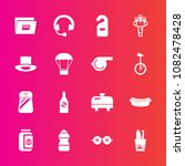 premium set with fill vector... | Shutterstock .eps vector #1082478428