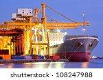 industrial container cargo...   Shutterstock . vector #108247988