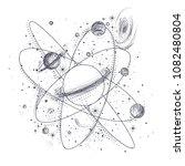 vector illustration set of moon ... | Shutterstock .eps vector #1082480804
