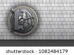 3d illustration of vault door ... | Shutterstock . vector #1082484179