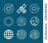 set of 9 planet outline icons... | Shutterstock .eps vector #1082489360