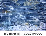 Macro Blue Gold And White Paint ...