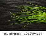 fresh chives top view isolated... | Shutterstock . vector #1082494139