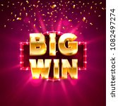 big win casino banner text on... | Shutterstock .eps vector #1082497274
