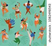 brazil carnival. vector... | Shutterstock .eps vector #1082498543