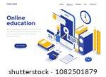 modern flat design isometric... | Shutterstock .eps vector #1082501879