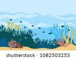 vector underwater background    Shutterstock .eps vector #1082503253