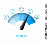 customer satisfaction meter... | Shutterstock .eps vector #1082509400