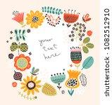 hello summer  floral background | Shutterstock .eps vector #1082512910