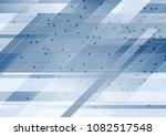 blue technology minimal...   Shutterstock .eps vector #1082517548