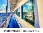 sea view from ship deck scene.... | Shutterstock . vector #1082521718