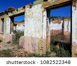 ruined house photo | Shutterstock . vector #1082522348