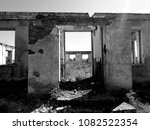 ruined house photo | Shutterstock . vector #1082522354