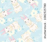 seamless pattern with cute... | Shutterstock .eps vector #1082525780