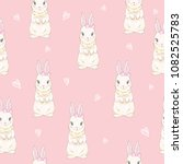 seamless pattern with cute... | Shutterstock .eps vector #1082525783