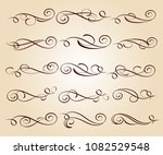 calligraphic elegant elements... | Shutterstock .eps vector #1082529548