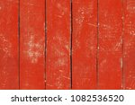 peeled and faded red plank... | Shutterstock . vector #1082536520