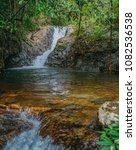 beautiful waterfall with the... | Shutterstock . vector #1082536538