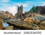 coast rock stone texture... | Shutterstock . vector #1082536550
