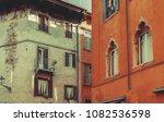 vintage buildings background.... | Shutterstock . vector #1082536598