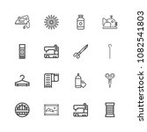 premium set of sewing related... | Shutterstock .eps vector #1082541803