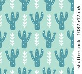 hand drawn floral mexican cacti ... | Shutterstock .eps vector #1082542556