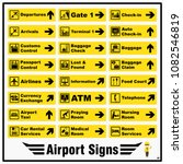 Set Of Airport Markings And...