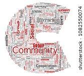 vector conceptual community ... | Shutterstock .eps vector #1082550074