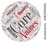 vector conceptual core values... | Shutterstock .eps vector #1082550650