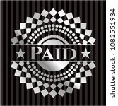 paid silver emblem | Shutterstock .eps vector #1082551934