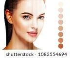 skin tone woman healthy skin... | Shutterstock . vector #1082554694