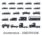 car type icons set. vector... | Shutterstock .eps vector #1082555108