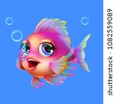 Beautiful Cartoon Sea Fish With ...
