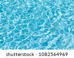 water in the pool of blue... | Shutterstock . vector #1082564969