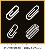 set of 4 clip outline icons... | Shutterstock .eps vector #1082569130
