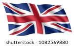 britain flag. isolated national ... | Shutterstock .eps vector #1082569880