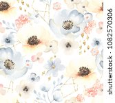 seamless floral pattern with... | Shutterstock .eps vector #1082570306