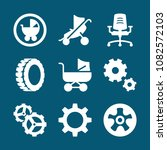 set of 9 wheels filled icons... | Shutterstock .eps vector #1082572103