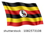 uganda flag. isolated national... | Shutterstock .eps vector #1082573108