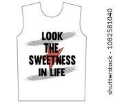 stylish trendy slogan tee t... | Shutterstock .eps vector #1082581040