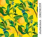 watercolor seamless pattern... | Shutterstock . vector #1082581559