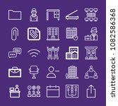 set of 25 office outline icons... | Shutterstock .eps vector #1082586368