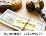 alimony on a court desk.... | Shutterstock . vector #1082590379